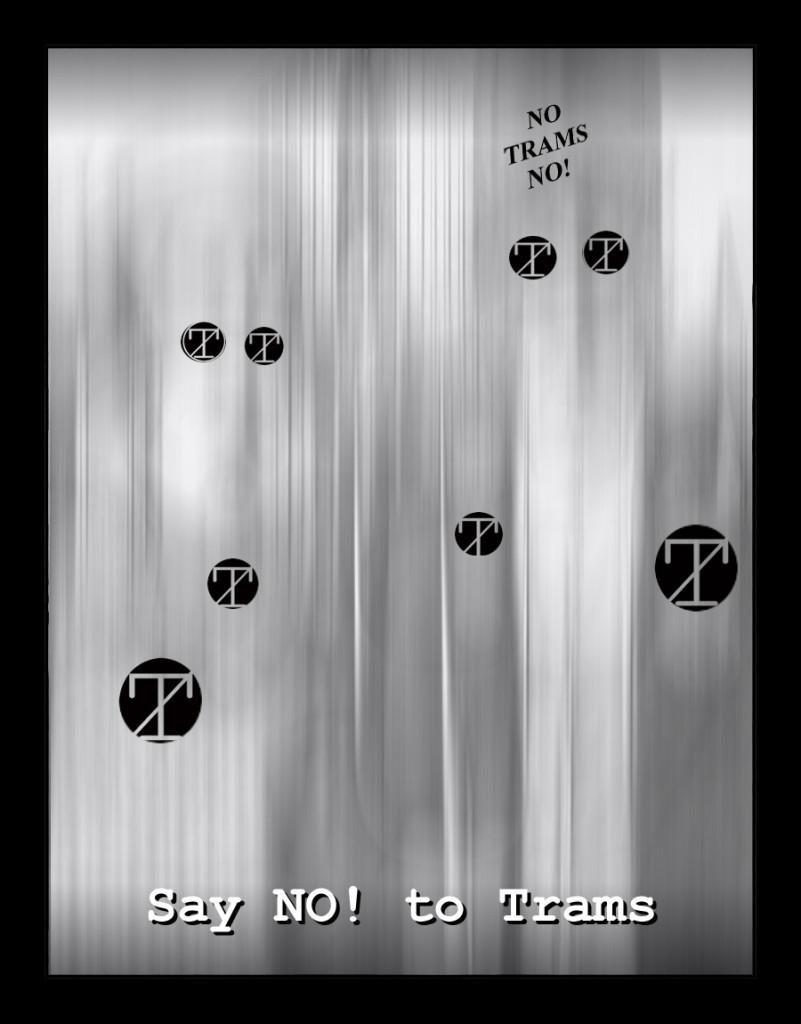 say NO! to trams (man with no bones mix)